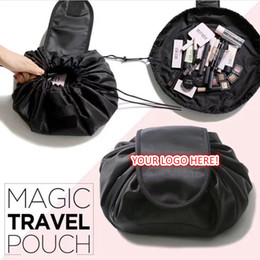 $enCountryForm.capitalKeyWord NZ - Portable Cosmetic Bag Drawstring Storage Travel Pouch Large Capacity Cosmetic Organizer Artifact collapsible makeup bag accept logo printing
