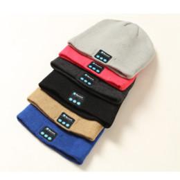Beanies For Winter Australia - Wireless Bluetooth Headphones Sport Music Hat Smart Headsets Beanie Cap Warm Outdoor Winter Cap with Mic for Xiaomi Earphone