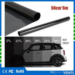 $enCountryForm.capitalKeyWord Australia - yentl wholesales 50cm x 6M Black Glass Window Tint Shade Film VLT 5% Auto Car House Roll PLY Auto Glass Solar Protection