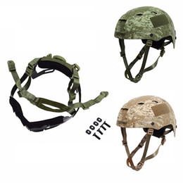 Protective helmet tactical online shopping - Tactical Helmet Locking Buckle System Outdoor Protective Adjustable Strap Accessory