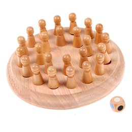 Wooden Train Blocks NZ - Wood Educational Block Toys Wooden Stick Chess Game Toy Children Memory Match Training Chrismas Gift Intelligence Development