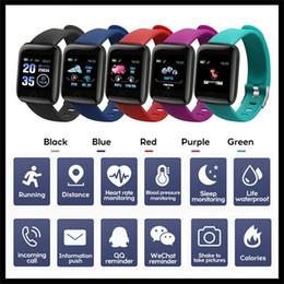 Fitness Tracker ID116 Bracciale intelligente PLUS con frequenza cardiaca intelligente pressione sanguigna Wristband 116 PLUS F0 per Fitbit MI Banda 116Plus in Offerta