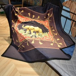 $enCountryForm.capitalKeyWord Australia - Luxury designer brand comfortable bedding blanket geometric patterns double layer thicken soft blanket shawl Christmas new Year gift 2019new