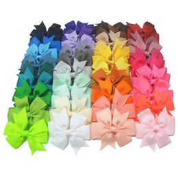 High Quality Hair Clip Bow Australia - 40pcs lot 3 inch High Quality Grosgrain Ribbon Hair Bow Tie WITH WITHOUT Clip Kids Hairpin Headwear Bowknot Accessories HDJ15