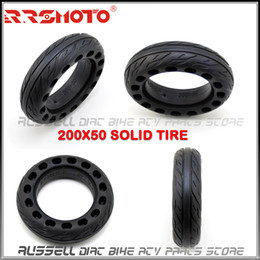 "inch tires UK - 200x50 Solid Tubeless Rubber Tire 8 x 2 inch 8"" for Folding Electric Scooter 8-inch E-Scooter Pocket Bike Razor E100 E150 E-200"