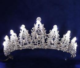 $enCountryForm.capitalKeyWord Australia - Crown Luminous Headwear Bride Marriage Jewelry Film House Marriage Jewelry Birthday Festival Crown