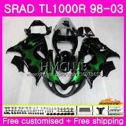 fairings srad Australia - Injection For SUZUKI SRAD TL 1000 R TL1000R 98 99 00 01 02 03 16HM.5 TL1000 R TL 1000R 1998 1999 2000 2001 2002 2003 Fairing Green flames