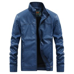 Wholesale 2019 men faux leather jacket winter fur coats large size biker motor leather jacket male Spring and autumn outerwear tops slim fit overcoat