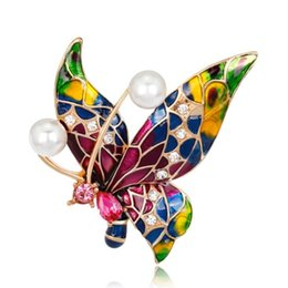 Badges Apparel Sewing & Fabric Elegant Fabric Simulation Butterfly Badges Clothes Hat Bag Decoration Accessories Pins Brooches For Women Girls Gift 1piece