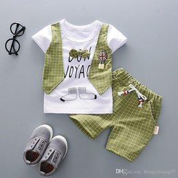 Summer Infants Australia - New 2019 Summer style infant clothes baby clothing sets boy Cotton short sleeve 2pcs suit baby boy kids clothes designer clothes