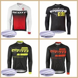 Yellow Scott Bicycles Australia - Men pro team SCOTT cycling clothing winter cycling jersey thermal fleece long sleeve Shirt mountain bike jersey bicycle clothes Y041103