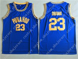 Cheap custom Obama 23  Punahou High School Basketball Jerseys Stitched  Customize any name number MEN WOMEN YOUTH JERSEY XS-5XL b172e5afd