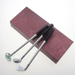 "case for mini Australia - 9.65""x3.80""x1.60"" Golf Gift Set Fancy Vintage Gift Case 3PCS Golf Clubs 7.3"" Mini Putter-Shaped Alloy Ballpoint for Golfer"
