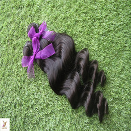 6a Deep Wave Hair Australia - Jet Black Color Peruvian Deep Wave Hair Bundles 10-30 Inchs Remy Human Hair Extensions 6a Unprcessed Virgin Hair Weaving