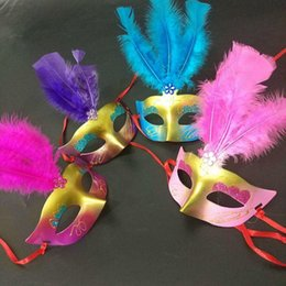 mask for face glow Australia - LED Glowing Masquerade Masks Princess Woman Half Face Masks Feather Butterfly Mardi Gras Masquerade Masks Xmas Decor