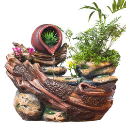$enCountryForm.capitalKeyWord Australia - Diy Plants Micro Landscape Indoor Potted Succulents Home Furnishing Rockery Resin Water Fountain Fengshui Office Decoration J190712