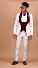$enCountryForm.capitalKeyWord Australia - Groom Tuxedos Groomsmen Peak Lapel Custom Made Men Suits Wedding Prom Dinner Best Man Blazer 3 Pieces ( Jacket+Pants+Vest+Tie )