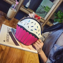candy hit NZ - 2017 summer Fashion new Handbags High quality PU leather Women bag Sweet Cute hit ice Cream chain package Cake shoulder bag