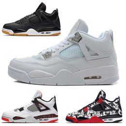 $enCountryForm.capitalKeyWord Australia - With Box fashion quality bred 4 basketball shoes sneakers men mens thunder White Cement Pure Money Bred Royalty Game Royal 4s Sports shoes