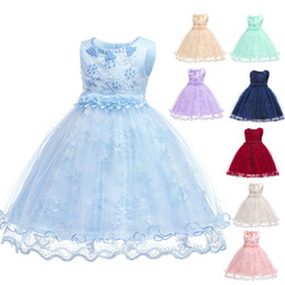 Girls Dresses Princess Full Dress Gauze Lace Lovely European Style Birthday Gift For Beautiful 42