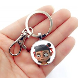 funny rings for women Australia - 1PC Cartoon Funny Chinese Mythology Nezha DIY Key Chains for Bags Key Ring Decoration Jewelry Accessory Chain