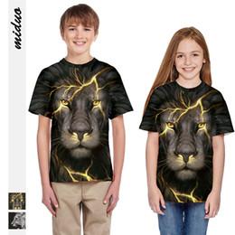 $enCountryForm.capitalKeyWord Australia - Hot lion digital print children's T-shirt campaign cute sports cute wholesale manufacturers direct sales Children's T-shirt