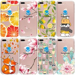 case cartoon silicone iphone galaxy NZ - [TongTrade] Soft Silicone TPU Case For iPhone 11 Pro 8 7 6s 6p 5s 5p Max X XS Huawei Mate 20 Lite 20 Pro 20 Rs Floral Cartoon Animal Case
