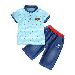 $enCountryForm.capitalKeyWord NZ - good quality Summer Baby Boy Clothes Set Baby Clothing Set Tops+Shorts Pants 2pcs Set Kids Sport Suits Children Tracksuit For Boys
