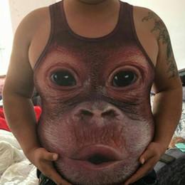$enCountryForm.capitalKeyWord Australia - 2018 Summer Men's Fashion 3D Monkey Animal Pattern Personalized Print Vest Casual Sleeveless Skinny Sports Vest