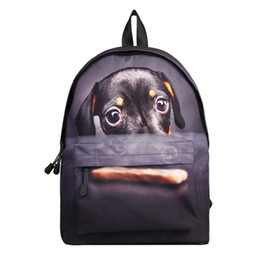 $enCountryForm.capitalKeyWord Australia - Datomarry 14 Inch Cool Cat Dog Printing Backpack for Children junior High Primary School Student Kids Bagpack for Teens Boy Girl