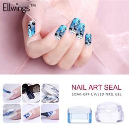 nail art stamper scraper 2019 - Ellwings Jelly Silicone Nail Stamper Seal with Scraper+Scraper Fission Seal Nail Art Stamping Polish Templates Decoratio