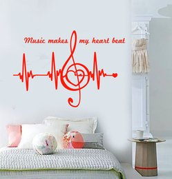 $enCountryForm.capitalKeyWord Australia - Vinyl Wall Decal Music Notes Quote Heart Pulse Heartbeat Stickers Wall Art Tattoos Home Decor Mural