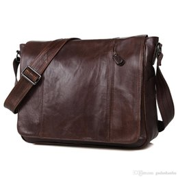 jmd leather bags Australia - JMD Tanned Leather Men's Messenger Bag Shoulder Bags Sling Bag For Young 7338