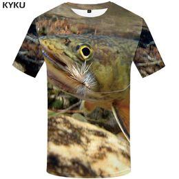 910b2e4f3bb Funny Fishing T Shirts UK - wholesale Fish Tshirt Men Funny T-shirt  Tropical Ocean