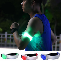 $enCountryForm.capitalKeyWord Australia - Night Safety SOS LED Running Armband Reflective Light Belt Arm Strap Sport Jogging Cycling Bracelet Luminous Running Bracelet Toy