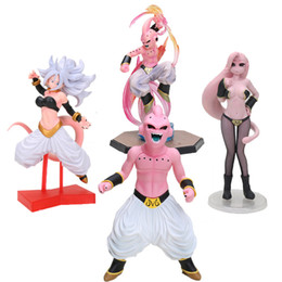 lady action figure Canada - Dragon Ball Z Majin Buu Lady Girls Buu PVC Action Figure Collection Model Toy MX191105