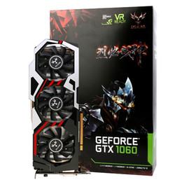 Venta al por mayor de IGame original colorido 1060 T-3GD5 Tarjeta gráfica GeForce GTX Top 1060 GPU viruta 192bit GDDR5 8008MHz DVI + HDMI + 3 * DP para el Escritorio BA