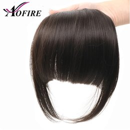 $enCountryForm.capitalKeyWord Australia - Brazilian Straight 100% Human Hair Bangs For Women Virgin Clip In Fringe Hair Extension Natural Black Free Shipping Aofrie