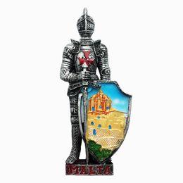 $enCountryForm.capitalKeyWord UK - 3D Malta Iron Armor Warrior Fridge Magnet Tourist Souvenirs Magnets For Refrigerator For Kitchen Home Decoration