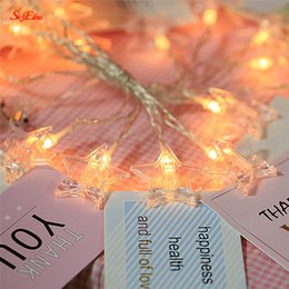 Discount pointed star led - 1.5M 10 LED Photo Card Wall Clip Fairy LED String Light Home Five-pointed Star Wedding Party Bedroom Indoor Holiday Deco