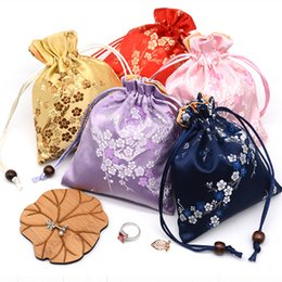 $enCountryForm.capitalKeyWord NZ - 12x15cm Drawstring Gifts Bags Wedding Christmas Packaging Sack Bag Chinese Style Silk Cloth Small Jewelry Pouches