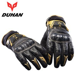 $enCountryForm.capitalKeyWord Australia - Winter Duhan Motorcycle Riding Leather Carbon Black Gloves Motocross Off-road Racing Touch Screen Guantes Moto for Men and Women
