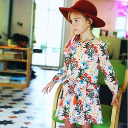 Princesses Clothes Australia - Girls Autumn Dress Children 2019 Brand Princess Dress Christmas Floral Long Sleeve Kids Dresses for Girls Clothes 10 12 years