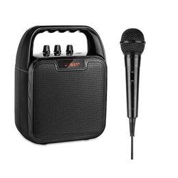 Mic Amplifier Speaker Australia - Bluetooth Wireless Speaker with Microphone Karaoke Machine Voice Amplifier Handheld Mic for Party Outdoors Indoors Activities PK Q7 Q9