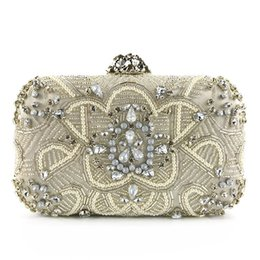 $enCountryForm.capitalKeyWord NZ - Women Beaded Handbags and Purses Fashion Diamond Hand Clutches High Quality Bridal Wedding Evening Clutch Bag Exquisite Dress Chain Purses