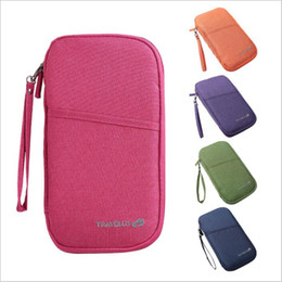 travel passport pouch wholesale 2019 - Passport Card Holders Travel Wallets Ticket Purses Credit ID Card Clutch Bags Zipper Makeup Organizer Fashion Handbag Co
