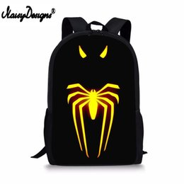 $enCountryForm.capitalKeyWord Australia - NOISYDESIGNS Men's Cool School Bags With Spider Pattern Teenager Unique Backpack Kids Boys Learning Essential Bagpack Organizer
