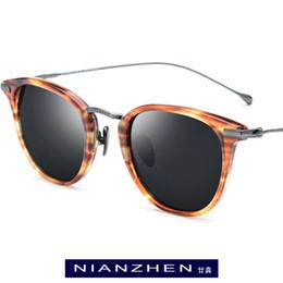 42265073a Titanium Acetate Sunglasses Men 2019 Fashion Polarized Sunglass Brand  Designer Vintage Square Sun Glasses for Women Shades 1839