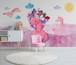 $enCountryForm.capitalKeyWord Australia - Custom Mural Wallpaper 3D Colorful Graffiti Unicorn Cartoon Murals Children's Room Living Room Bedroom Backdrop Wall paper wallpaper
