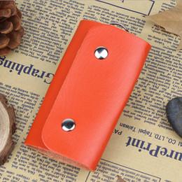 Keys Australia - Fashion gifts Keys holder Organizer ger patent leather Buckle key wallet case car keychain for Women Men brand free shipping